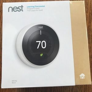 Nest Learning Thermostat - white (Brand New)